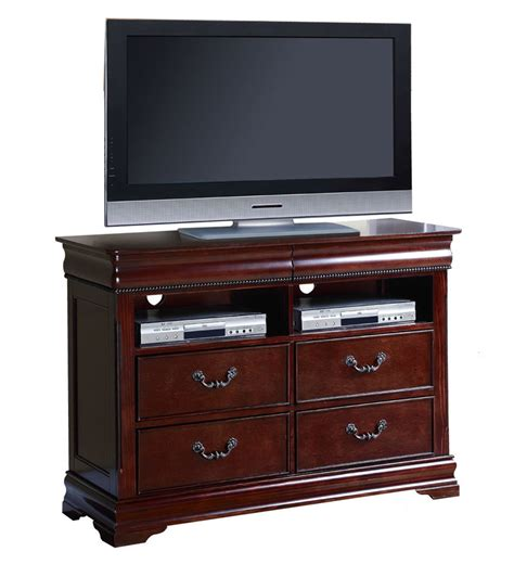 Dresser Cherry by Gwyneth Cherry Traditional 4 Drawer Media Dresser