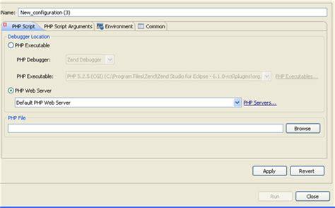 configure xp zend studio running php scripts remotely