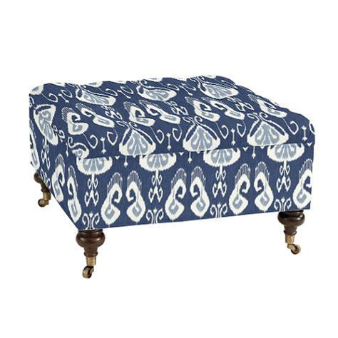 tufted storage ottoman square square tufted storage ottoman divine blue and white