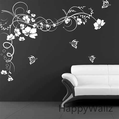 flower stickers for wall large flower wall sticker 3d flower butterfly wall decal