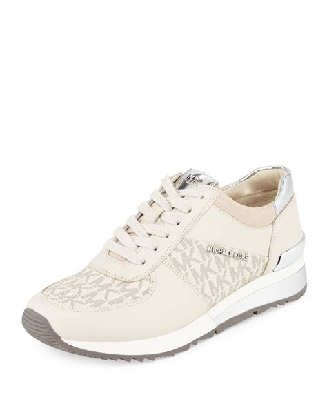 michael kors sneakers michael michael kors wrap logo sneaker in brown lyst