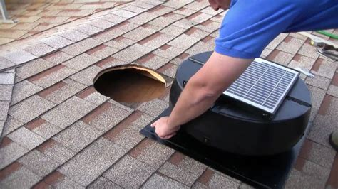 solar powered attic fan installation 1010tr 9915tr us1110 solar