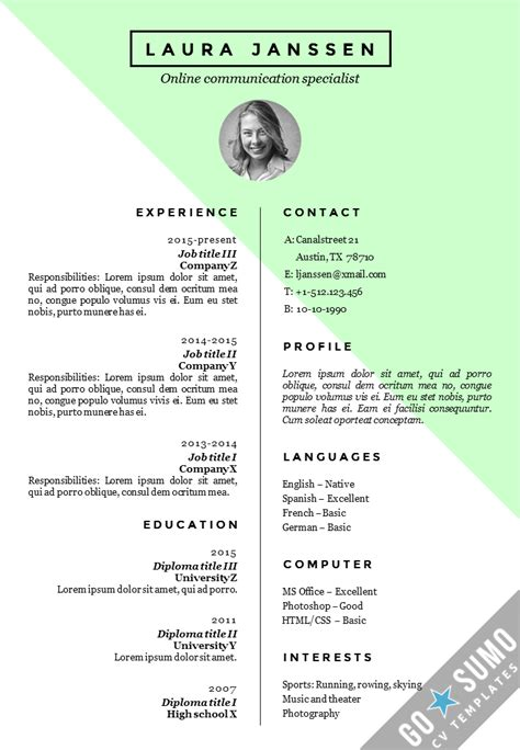 cv resume format lifespanlearn info