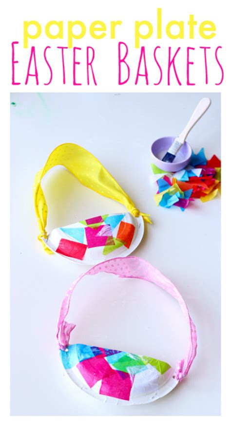 Easter Baskets With Paper Plates - paper plate easter baskets no time for flash cards