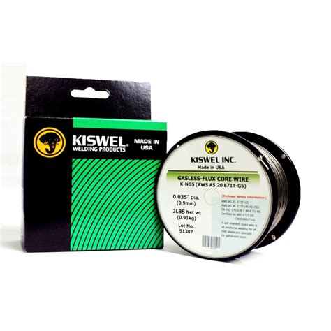 kiswel 0 035 in dia 2 lb gasless flux wire for
