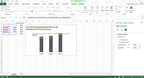 excel 2007 add goal line to bar chart how to create