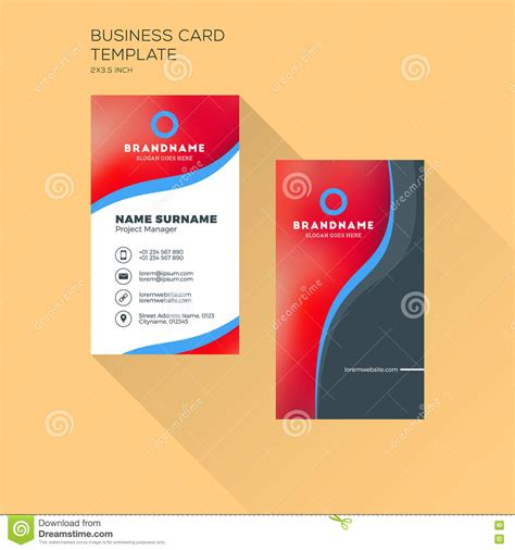 business card template for self printing vertical business card print template personal business