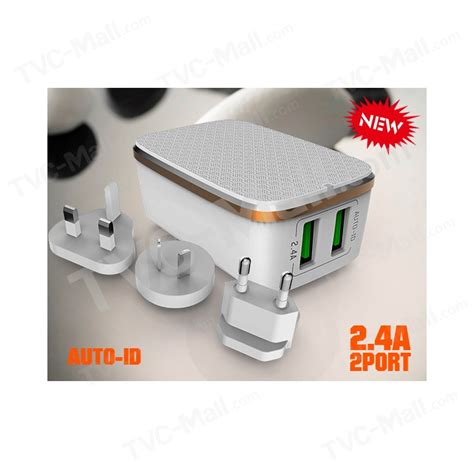 Adaptor Charger Ldnio A2204 Kepala Charger 2 Port 24a buy us dual port usb travel wall charger colorful led transparent at