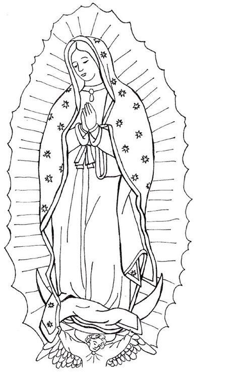 lady  guadalupe coloring page crafts pinterest