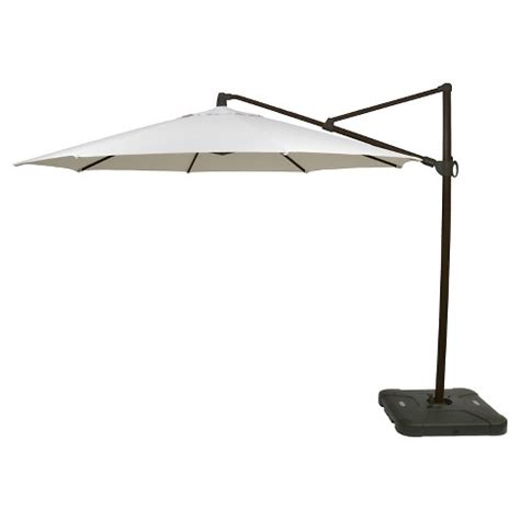 Offset Patio Umbrella Target 11 Offset Patio Umbrella With Base Medium Faux Wood Pole Threshold Target