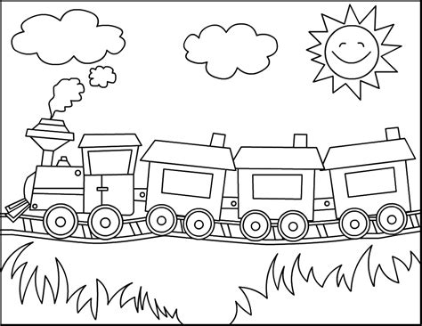 coloring pages free printable train coloring pages for