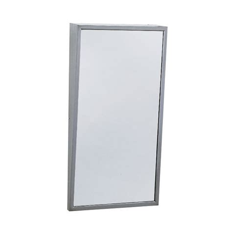 Bobrick B 293 Tilt Bathroom Mirror Satin Tilt Bathroom Mirror