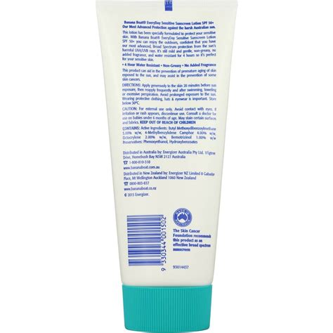 banana boat sunscreen woolworths banana boat spf 50 sunscreen sensitive 200g woolworths