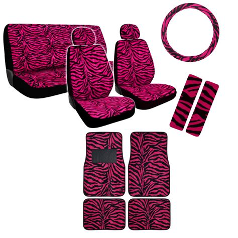Personalized Seat Covers And Floor Mats by New Safari Animal Print Premium Seat Covers Floor Mats Set