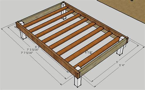 queen bed frame plans bed plans diy blueprints