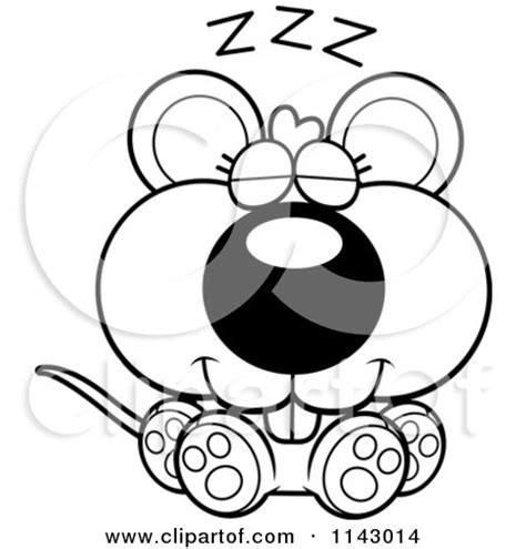 sleeping mouse coloring page royalty free rf mouse sleeping clipart illustrations
