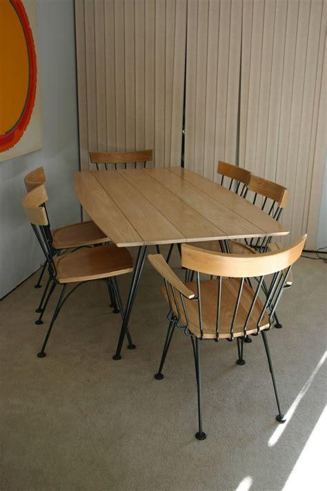 mid century modern mcm table   chair set  lyman woodard  sale  stdibs