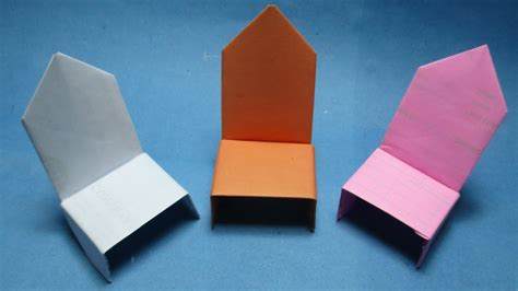 how to make paper chair origami chair easy