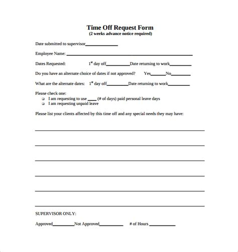 Printable Time Off Request Form Pictures To Pin On Pinterest Pinsdaddy Time Request Template