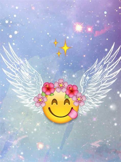 emoji wallpaper angel emoji angel uploaded by michelle on we heart it