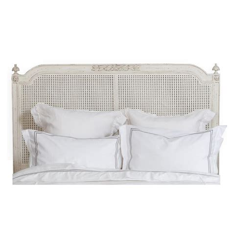 blanka french country antique white elegant caned queen