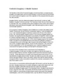 Frederick Douglass Essay by Essays On Frederick Douglass And Slavery Buy A Literature Review Paper