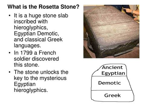 rosetta stone how many languages ppt chapter 4 section 4 egyptian achievements powerpoint
