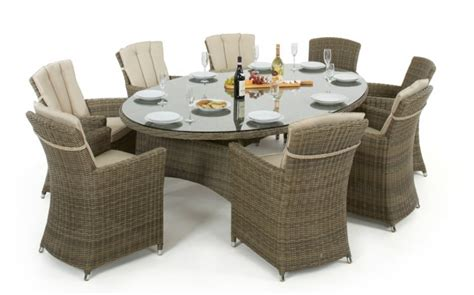 Classic 6 Seater Dining Set With Oval Shaped Table Maze Rattan Winchester 8 Seat Oval Dining Set Dining Sets