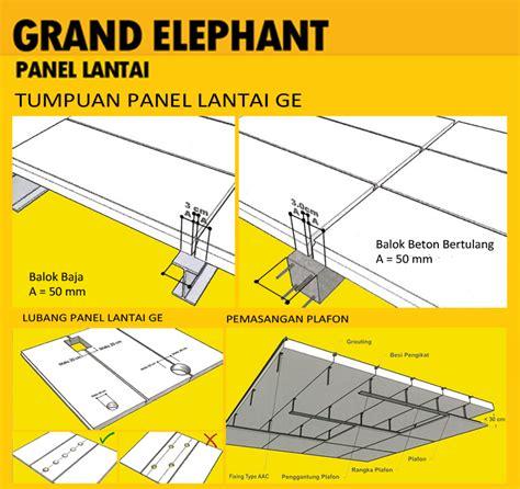 Panel Lantai Grand Elephant pengaplikasian grand elephant bata ringan panel lantai