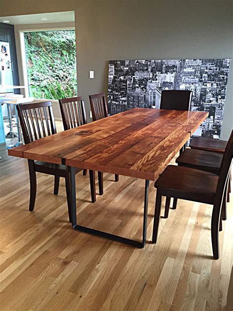 reclaimed wood table fremont reclaimed douglas fir dining table stumptown reclaimed reclaimed wood furniture