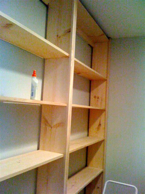 diy wall bookcase  woodworking