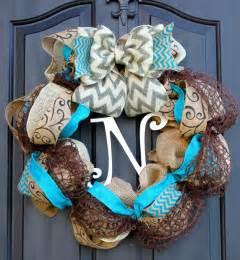 chevron burlap wreath wreath for door summer by oursentiments