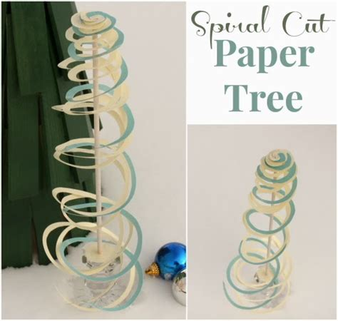 how to make a spiral cut paper tree the crafty blog stalker