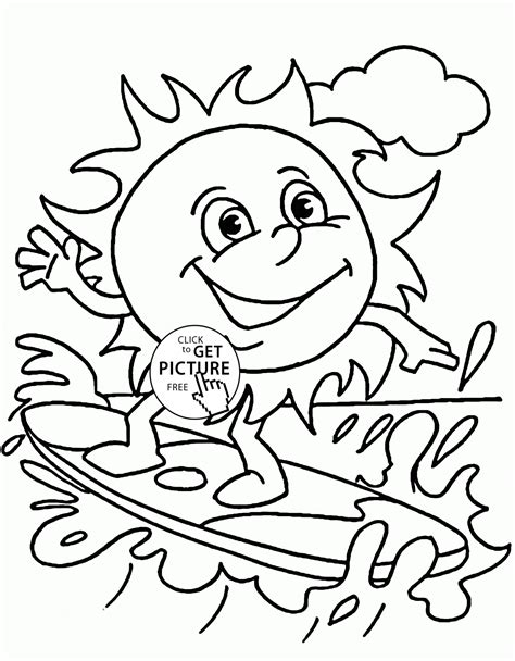 Sun Coloring Pages For Toddlers by Summer Printable Coloring Pages Az Coloring Pages
