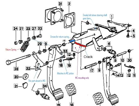 Clutch Pedal Bracket And Master Cylinder Replacement