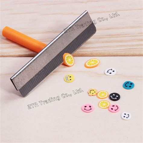 Fimo Blade wholesale razor fimo polymer clay canes rods blade cutter for 3d nail decorations fruit