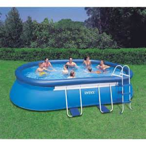 Backyard Pools Walmart Intex 18 X 10 X 42 Quot Oval Frame Swimming Pool Walmart