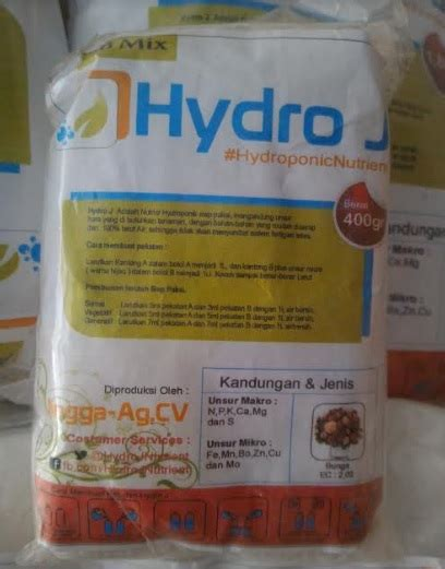 Nutrisi Hydroponik Ab Mix Hydro J Cabe jual nutrisi hidroponik ab mix bunga hydro j 1 l 400 gram