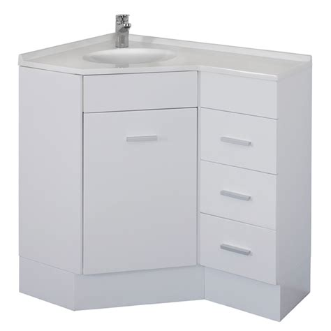 Black Corner Vanity by Stein Chanelle White Corner Vanity 900mm Right