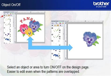 layout and editing brother brother pe design 10 embroidery software upgrade from 5 6