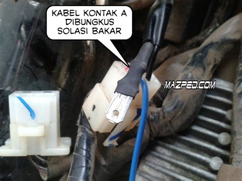 Alarm Motor Vario 125 pasang pengaman motor sensor sentuh alsento di vario 125