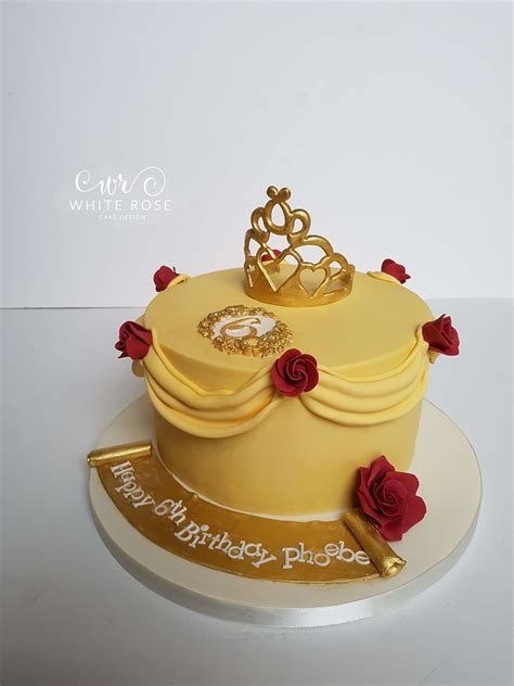 Beauty and the Beast Inspired Birthday Cake for a Princess by White Rose Cake Design Birthday