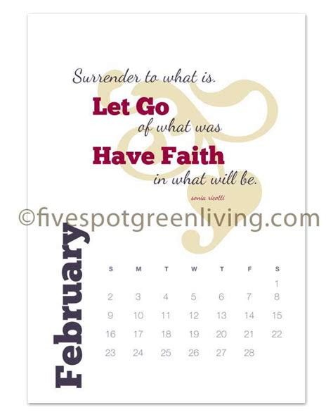 printable calendar quotes 2014 renew you desk calendar free printable five spot