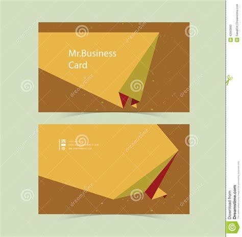 Business Card Origami - business card origami background