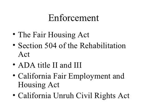 act section the fair housing act 2