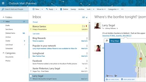 outlook layout email preview microsoft is overhauling outlook com with a new look and