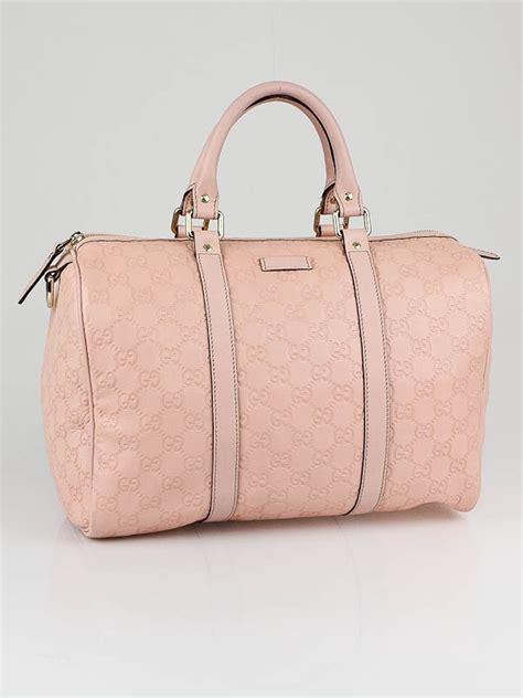 Gucci Romy Medium Boston Bag by Gucci Pink Guccissima Leather Medium Boston Bag