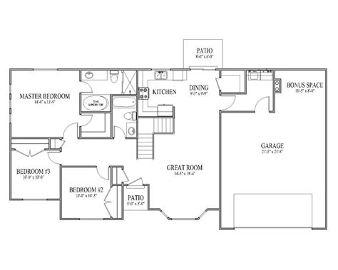 3 bedroom rambler floor plans floorplans rambler house plan ashborn main floor rambler