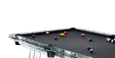 amazing modern pool table of glass made in italy