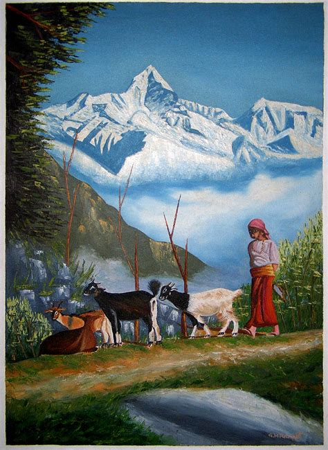 free painting mountain view painting handmade handicraft gt